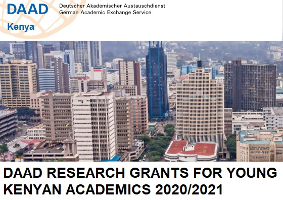 DAAD Research Grants for young Kenyan Academics 2020/2021